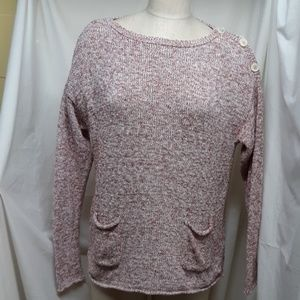 Chaps Womens Maroon/Pink Sweater